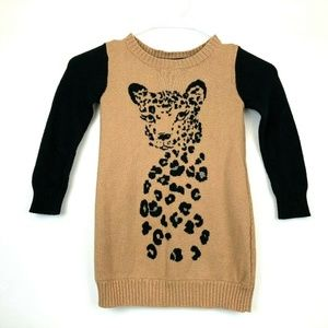 Gymboree Right Meow Leopard Sweater Dress Size 4